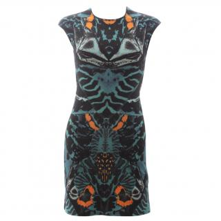 McQ Alexander McQueen Stretch-Jersey Printed Dress