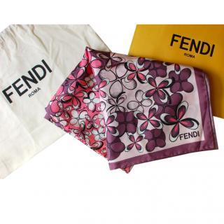 Fendi Large Silk Scarf