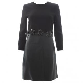 Victoria, Victoria Beckham Leather Panel Dress