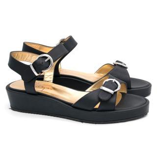 Walter Steiger Black Platform Sandals