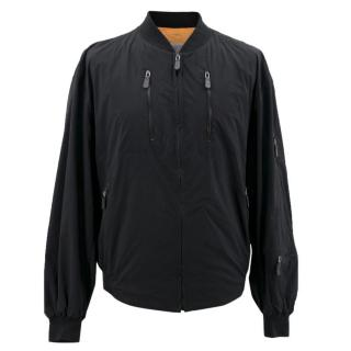 Marithe & Francois Girbaud Men's Black Bomber Jacket