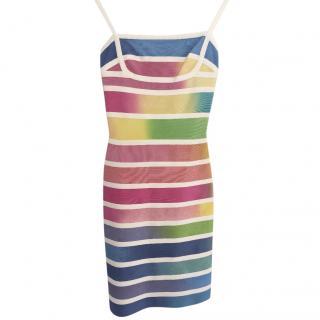 Herve Leger rainbow dress