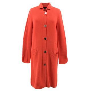 ME+EM Citrus Red Knitted Double Pocket Coat