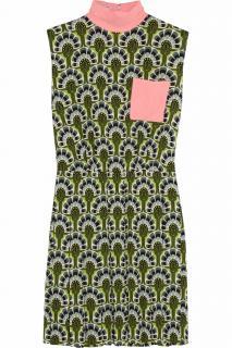 MIU MIU Printed crepe mini dress