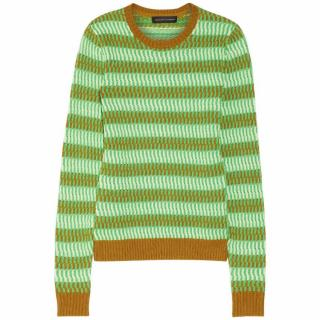 Jonathan Saunders Maryse Knitted Cotton Sweater
