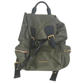 Burberry khaki green back pack
