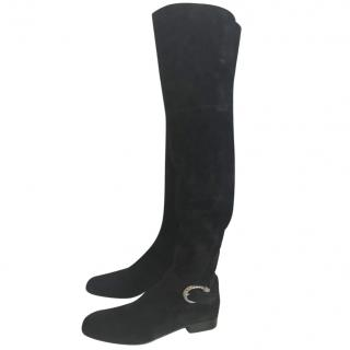 Gucci over the knee boot