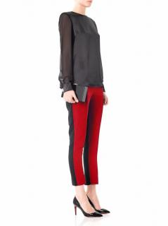 Jonathan Saunders Red Irma Klein Bi-colour Trousers