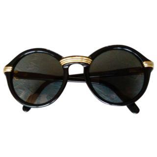 CARTIER Cabriolet Black / Vintage Sunglasses / NOS / '90 legendery eye