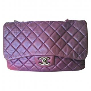 Chanel Purple Timeless Jumbo Lambskin