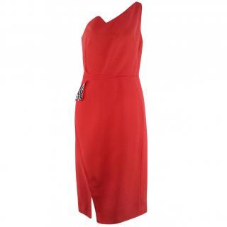 Antonio Berardi Red Off shoulder Knee-length Dress