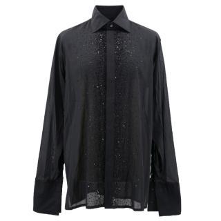 Richard James Black Embellished Shirt