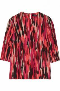 Jonathan Saunders Abbey Rivet Top In Pollock Pink