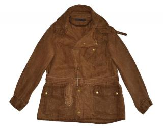 Ralph Lauren Wash Out Effect Brown Belted Jacket
