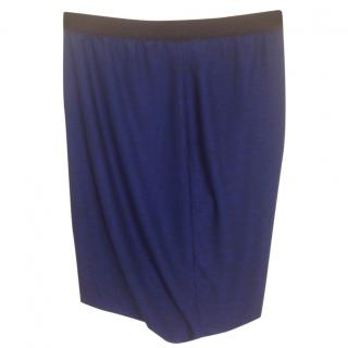 T by Alexander Wang Cobalt Stretchy Skirt