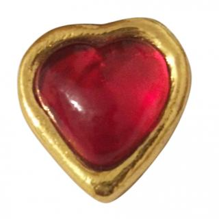 YSL Heart Brooch