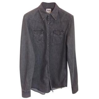 Acne Grey Western Denim Shirt