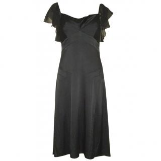 Diane von Furstenberg little black silk dress, US size 6 (UK 10)
