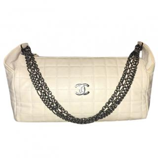 Chanel Vintage Off-White Chain Strap Bag