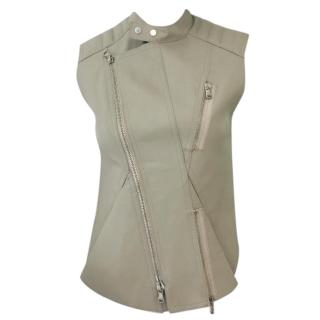 Phillip Lim Taupe Leather Gilet