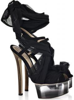 Fendi Lucite Black Platform Heels