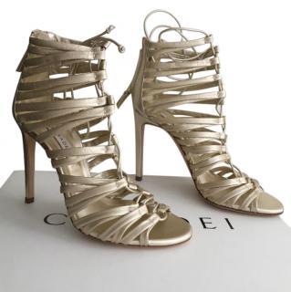 Casadei  soft gold sandals brand new