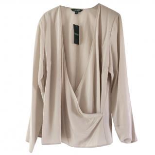 Grey silk Ralph Lauren top