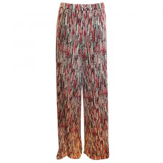 Alice+Olivia Athena Woven Wide-Leg Trousers