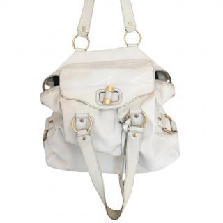 Yves Saint Laurent Cream Shoulder Bag