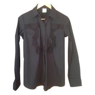 Red Valentino Men's Black Applique Shirt