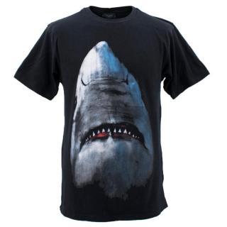 Givenchy Men's Cuban-Fit Shark-Print Cotton-Jersey T-Shirt