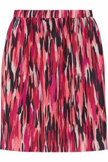 Jonathan Saunders Roselyn Printed Slub Cotton-Blend Skirt