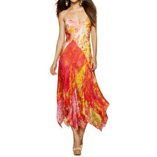 Ralph Lauren Floral Print Silk Dress