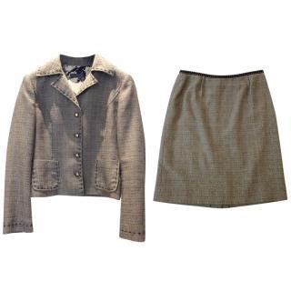 Alberta Ferretti skirt suit