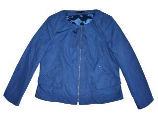 Elie Tahari Blue Full Zip Cotton Jacket