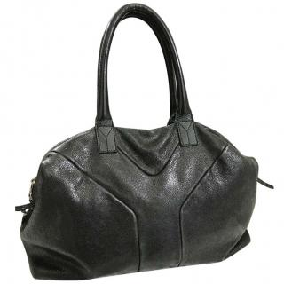 YSL Easy bag in black textured leather