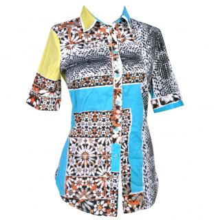 Just Cavali patchwork shirt