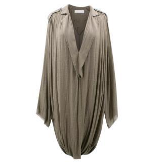 Lanvin Khaki Draped Dress