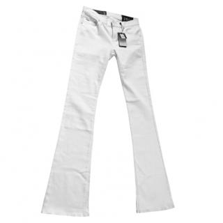 Armarni Exchange white flare jeans