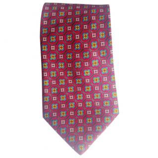 Silvio Fiorello Red Silk Tie