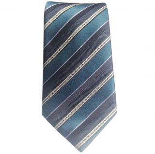 Canali Blue & White Silk Tie