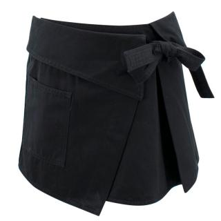 Isabel Marant Black Wrap Military Skirt