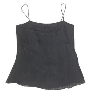 New Christian Lacroix black silk top