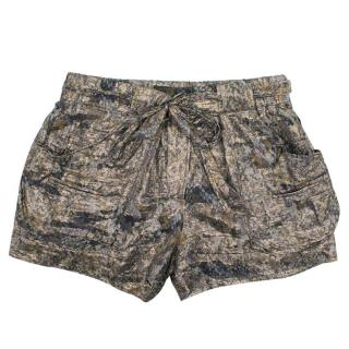 Isabel Marant Metallic Floral Pattern Shorts