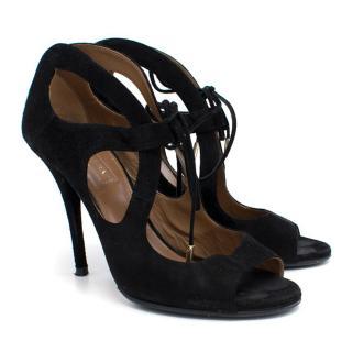 Aquazzura Black Suede Heels