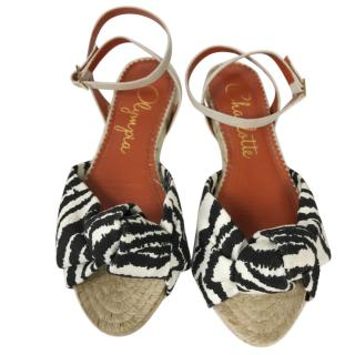 Charlotte Olympia Zebra Knot flats espadrilles