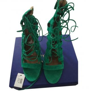 Aquazzura green heeled shoes