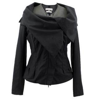 Roland Mouret Black and Green Layered Jacket