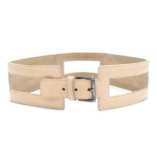 Alaia Cream Cutout Belt