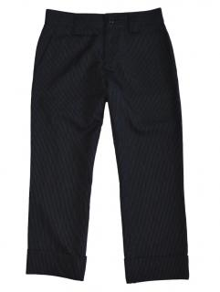 Yohji Yamamoto Wool Striped Capri Pants
